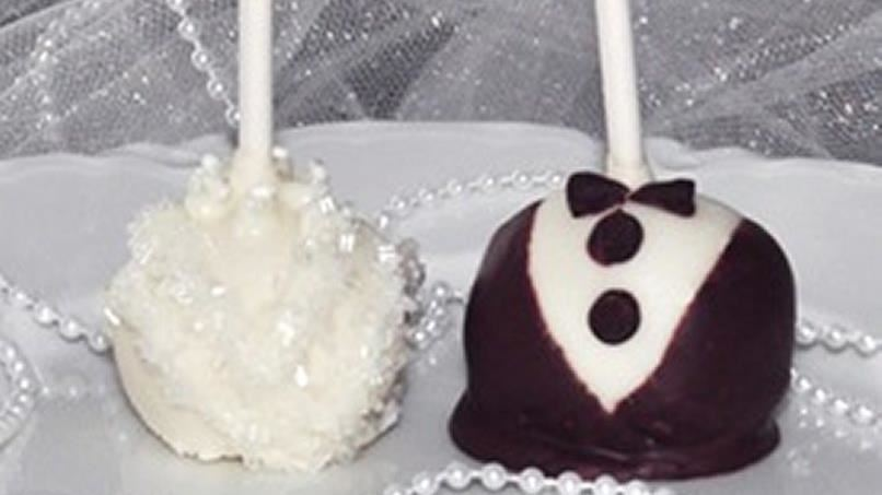 wedding cake pops recipe from tablespoon. Black Bedroom Furniture Sets. Home Design Ideas