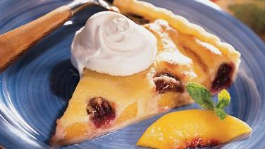 Peachy Cherry-Almond Tart