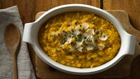 Microwave Risotto with Winter Squash, Maple Syrup and Sage