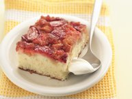 Strawberry-Rhubarb Upside-Down Cake