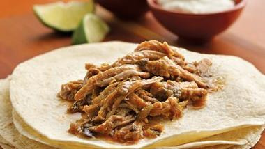 Slow-Cooker Green Chile Pulled Pork Burritos