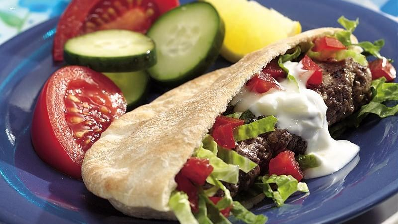 Grilled Curried Meat Roll Pita Sandwiches