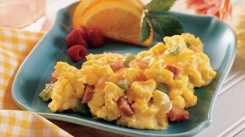 Ham and Vegetable Scrambled Eggs