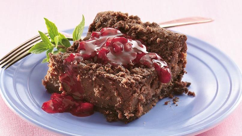 Chocolate-Raspberry Cheesecake Bars