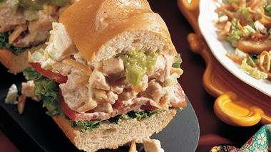 Chicken-Almond Baguette