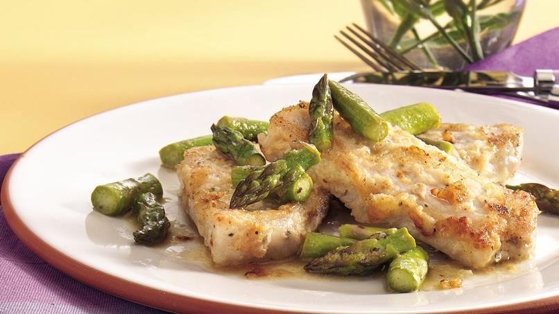 Pork and Asparagus Scaloppine
