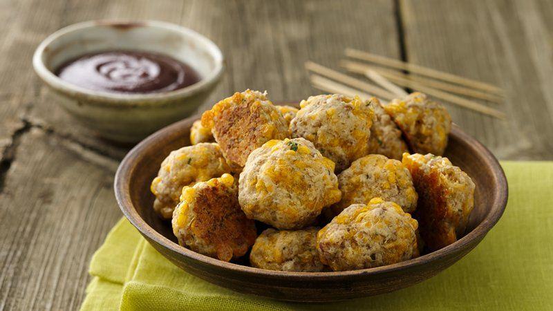 Turkey Sausage Cheese Balls