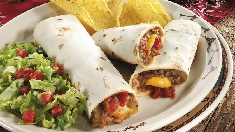 Beef and Bean Wraps