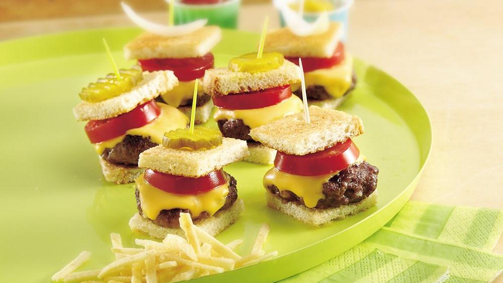 Grilled Baby Burgers