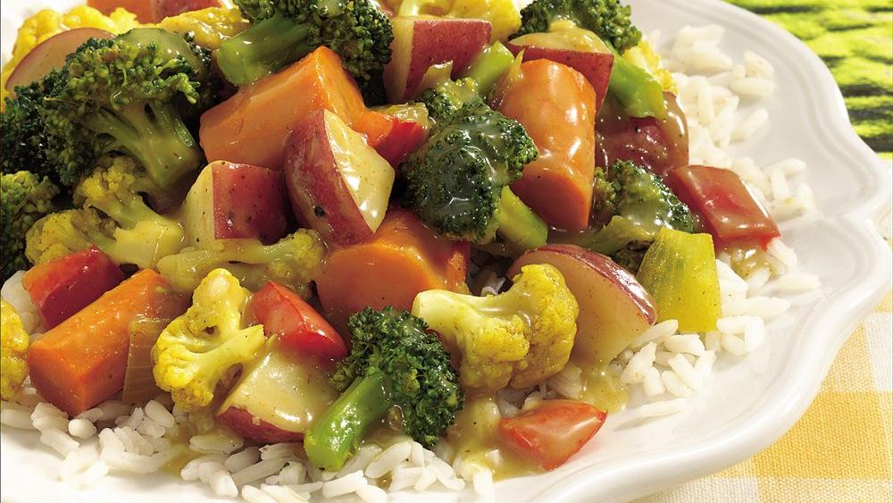Garden Vegetable Curry with Rice