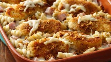 Crispy Parmesan Chicken a la Cordon Bleu