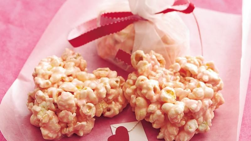Puffy Pink Popcorn Hearts
