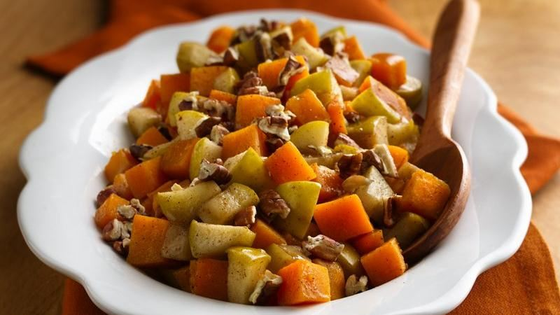 Baked Butternut Squash with Apples recipe from Betty Crocker