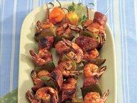 Grilled Shrimp and Sausage Kabobs