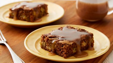 Apple Pudding Cake with Cinnamon-Butter Sauce