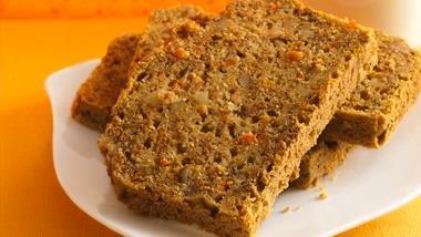 Lemony Carrot-Walnut Bread