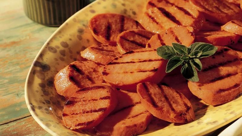 Grilled Sweet Potato Slices