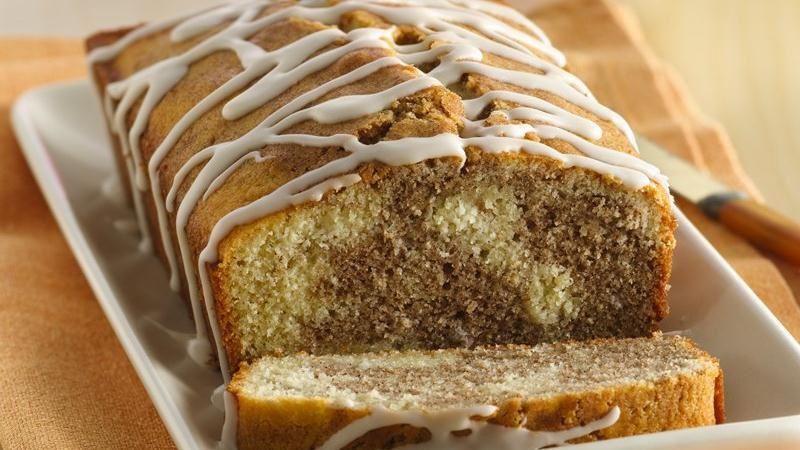 Gluten-Free Cinnamon Roll Pound Cake with Vanilla Drizzle
