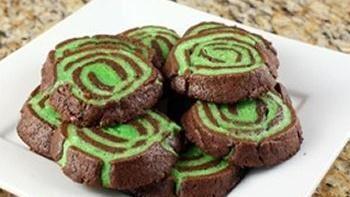 Chocolate Mint Swirl Cookies