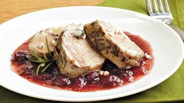 Pork with Cranberry-Port Sauce