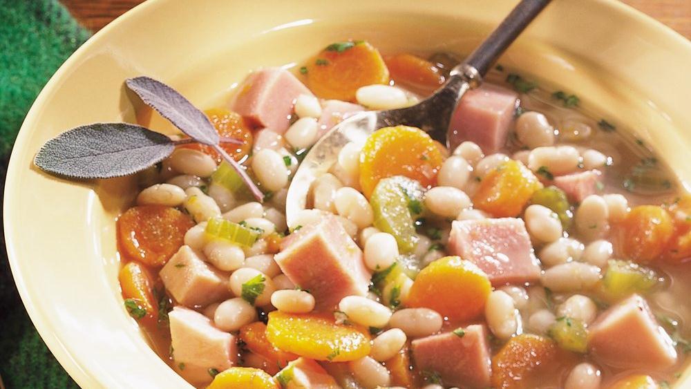 Smoky Ham and Navy Bean Stew
