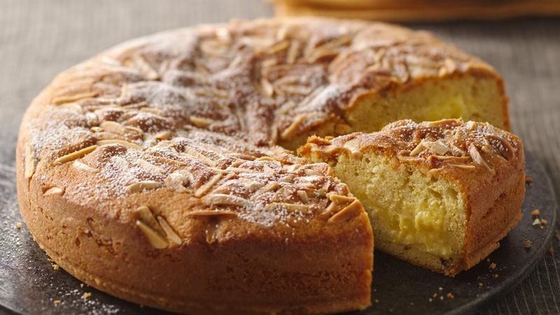 Lemon Curd Filled Butter Cake
