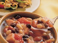 Hearty Ham and Three-Bean Soup