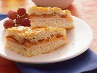 Baked Turkey, Cheddar and Bacon Sandwich