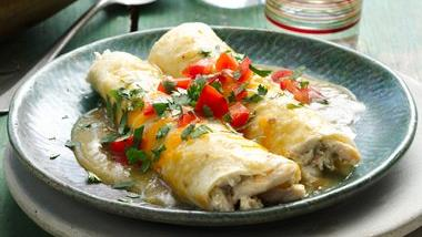 Creamy Chicken & Chile Enchiladas