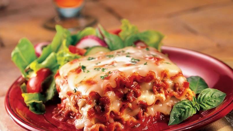 Classic Lasagna with Turkey Sausage