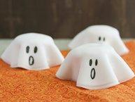 Halloween Ghost Cookie Stacks