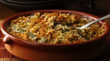 Green Bean Casserole with Portabella Mushroom Sauce