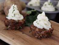 Meatloaf Cupcakes with Mashed Potato Icing
