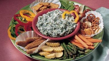 Savory Spinach Dip (lighter recipe)