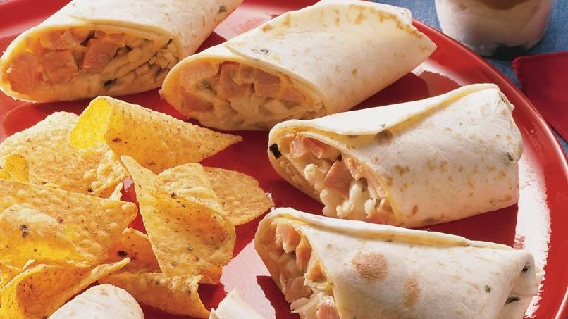 Hot Ham and Cheese Wraps