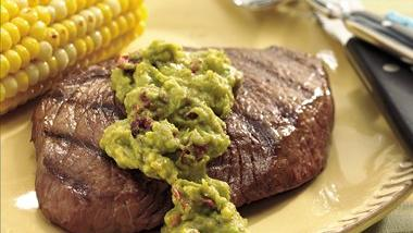 Steaks with Chipotle Guacamole