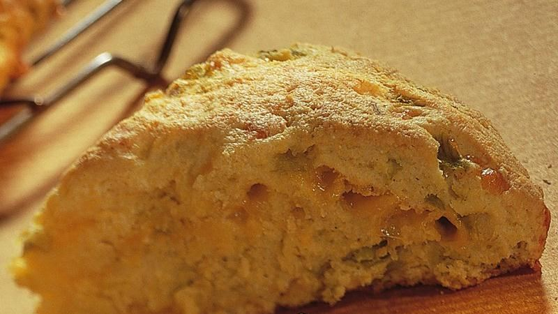 Cheddar and Chilies Cornbread Scones (White Whole Wheat Flour)