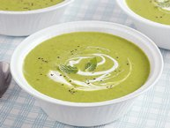 Chilled Minted Sweet Pea Soup