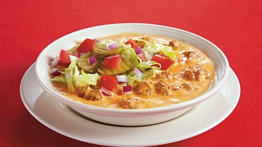 Slow-Cooker Spicy Cheeseburger Soup