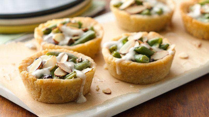 Gluten-Free Mini Green Bean Casseroles in Pastry