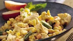 Cacerola de pollo y relleno de pan de maíz