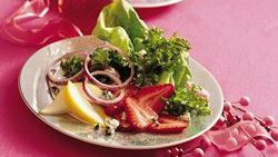 Sherried Greens with Fruit and Blue Cheese