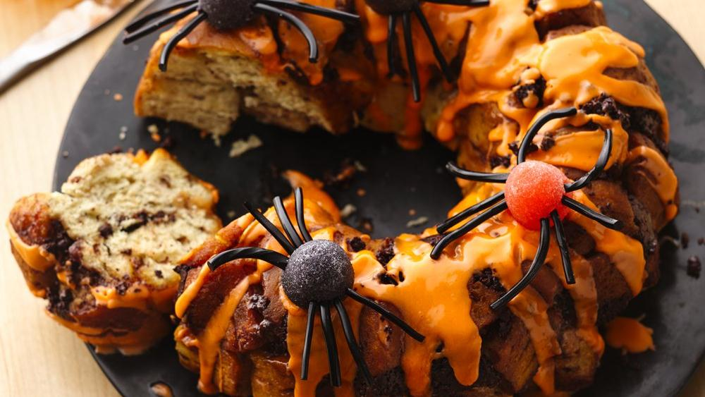 Spider Chocolate Chip Marshmallow Cinnamon Pull-Apart