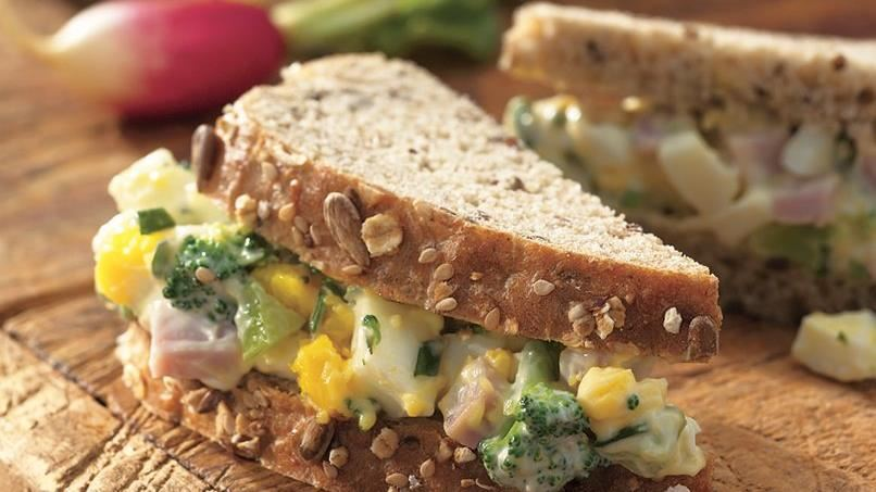 Summer Ham and Egg Salad Sandwiches