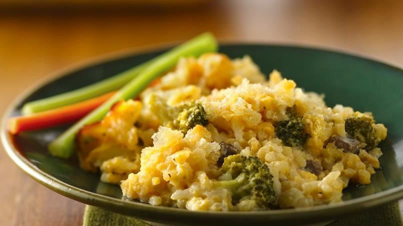 Cheesy Broccoli-Rice Bake
