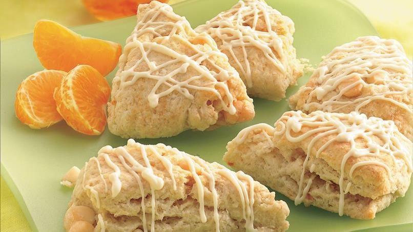 Petite Orange and Cream Scones