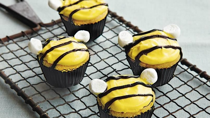 Honeybee Mini Orange Cupcakes