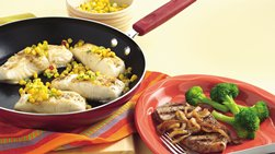 Gluten-Free Skillet Fish with Quick Corn Relish