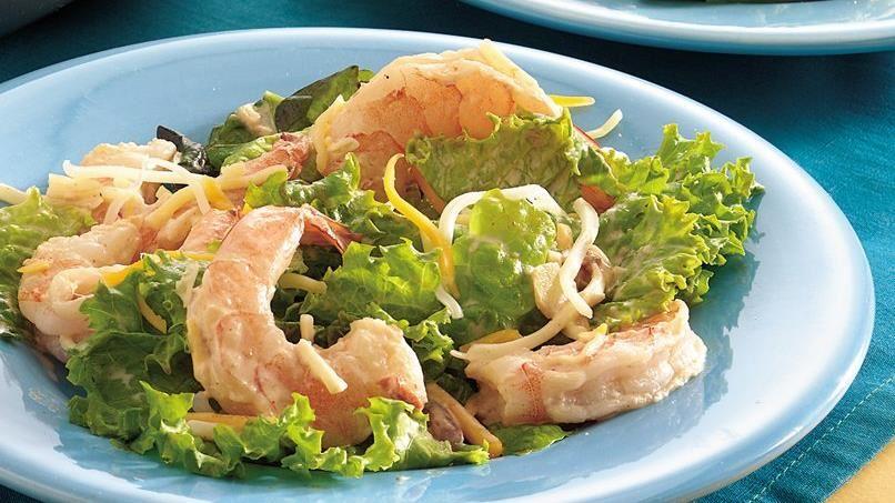 Southwestern Shrimp Taco Salad