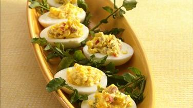 Deviled Eggs with a Kick